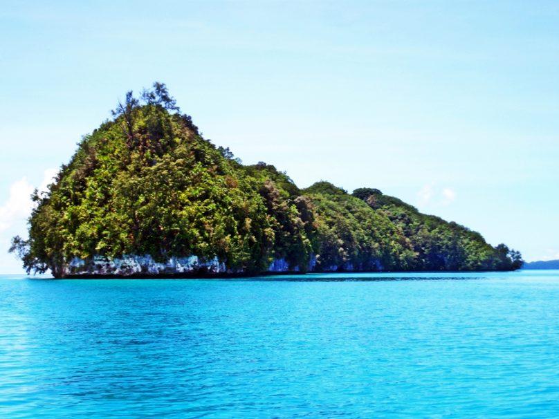 Laguna meridional de las islas Chelbacheb (Estado de Koror, Palaos)