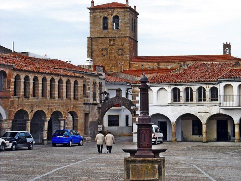 Plaza Mayor (Garrovillas de Alconétar, Extremadura)