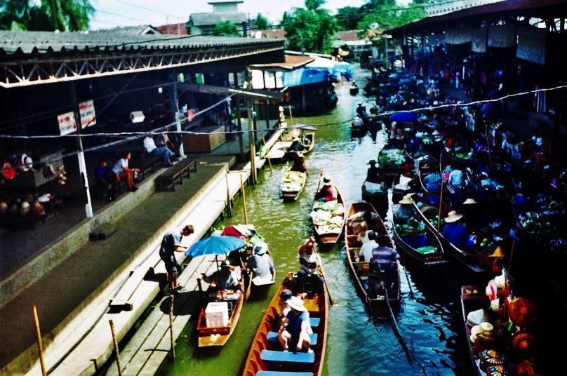 Mercado flotante (Damnoen Saduak, Tailandia)