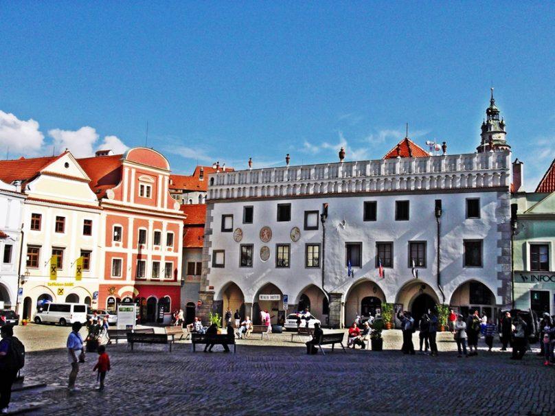 Plaza Svornosti (Český Krumlov, República Checa)