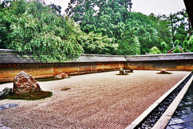 Karesansui del templo budista Ryōan-ji (Kioto, Japón)