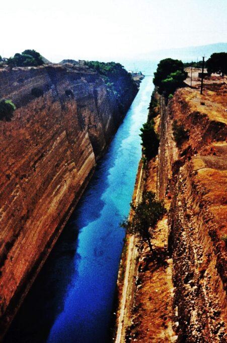 Canal de Corinto (Periferia del Peloponeso, Grecia)