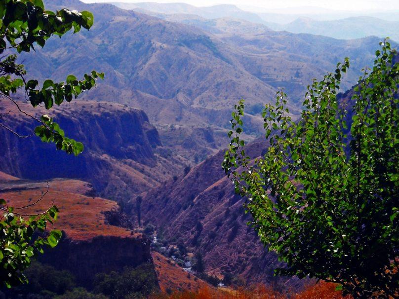Garganta del río Azat (Provincia de Kotayk, Armenia)
