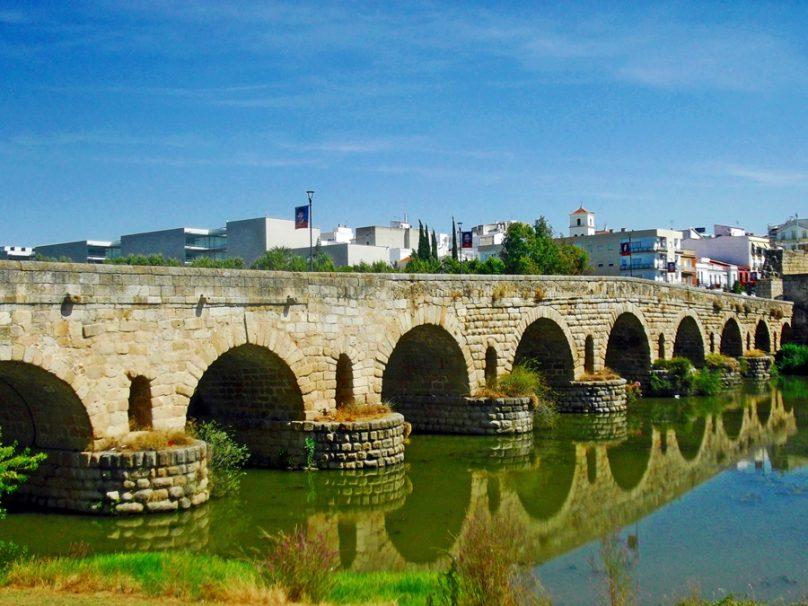 Puente romano sobre el Guadiana (Mérida, Extremadura)