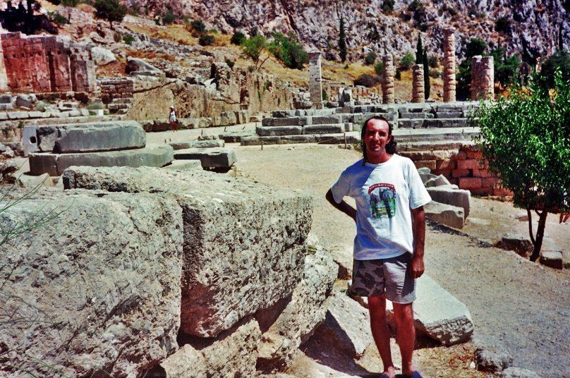 Templo de Apolo en Delfos (Región de Grecia Central, Grecia)