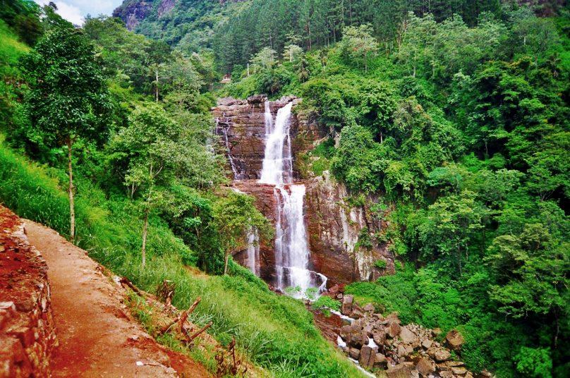 Cascada de Ramboda (Distrito de Nuwara Eliya, Sri Lanka)