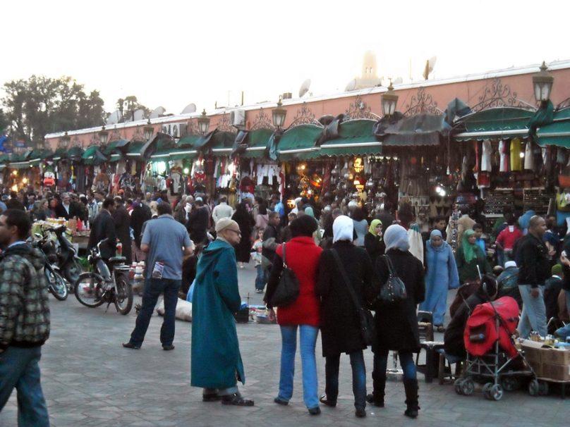 Espacio cultural de la Plaza Jemaa el-Fna (Marrakech, Marruecos)